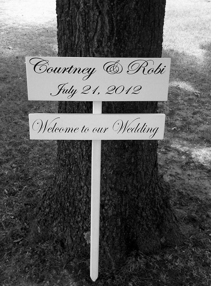 Customized Welcome to our Wedding sign -Country wedding Beach Wedding Barn