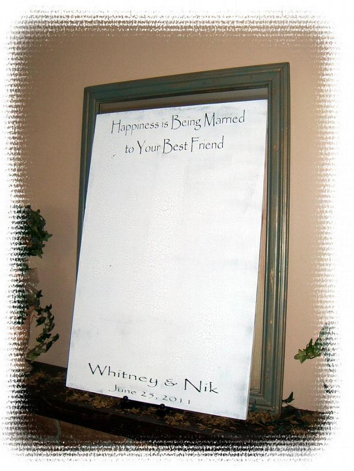"Wedding Guest Book Alternative, Guest Sign in Book sign, Large 24x36 ""Happiness"