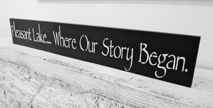 Where Our Story Began sign - Customize where yours began - Wedding Sign,