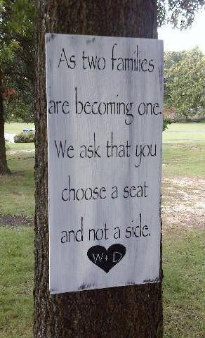 """Wedding Seating Chart Sign, personalized - """" As two families are becoming one,"""