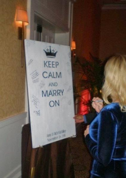 "Alternative wedding guest book, wedding signs, guest book sign, ""Keep Calm and"
