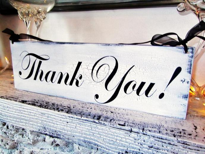 "Reception decor ""Thank You"" wedding sign - Thank you card photo prop, guest"