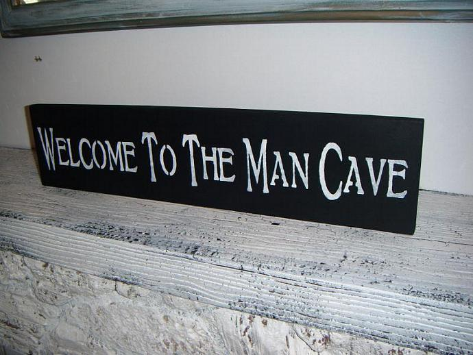 MAN CAVE Sign, Father's Day guy gift, mens gift- Great gift for the