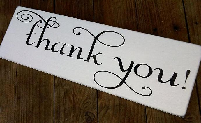 Wedding Signs, THANK YOU sign for wedding photo prop, thank you cards - Country