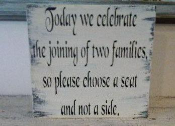 """Wedding Signs Seating Sign Seating Chart - """" Today we celebrate the joining of"""
