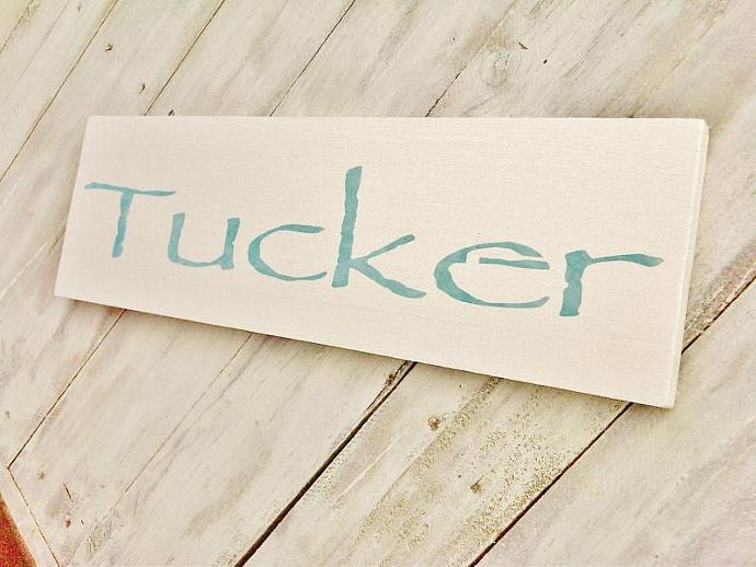 Customized  baby name sign, baby nursery art, decor - boy or girl - toddler  -