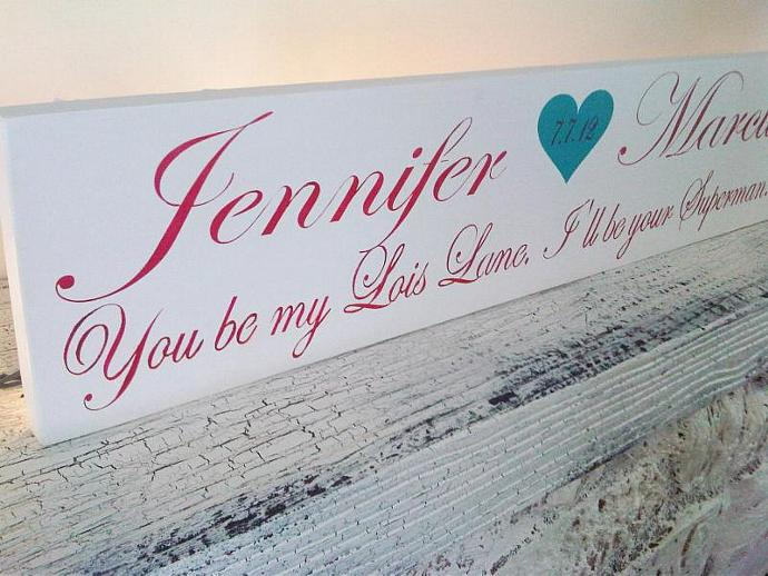 Customized  wedding signs, 6x24, Design your own handpainted wooden sign -