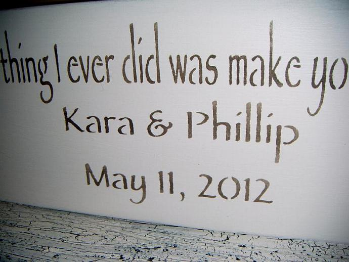 "Wedding table sign, Anniversary gift, customized ""The smartest thing I ever did"