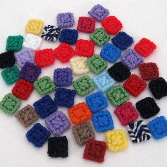 Colorful Reusable Confetti Squares Party Art Supply