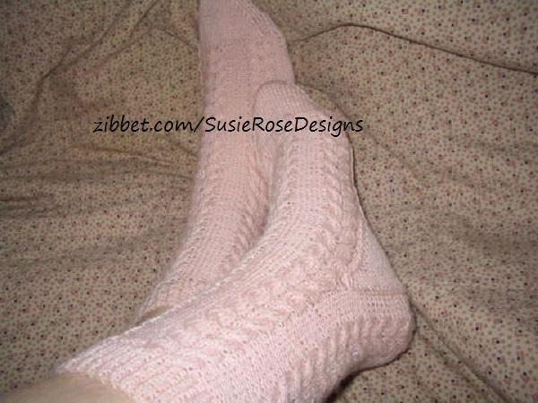 Wishbone Knitted Sock Pattern in PDF - Easy Experienced Beginner Knitting