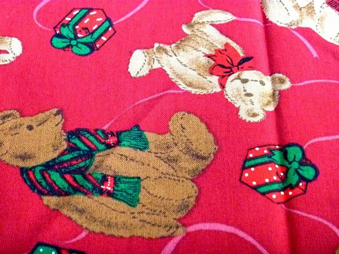 1 Yard Christmas Bears Hoffman International Cotton Fabric