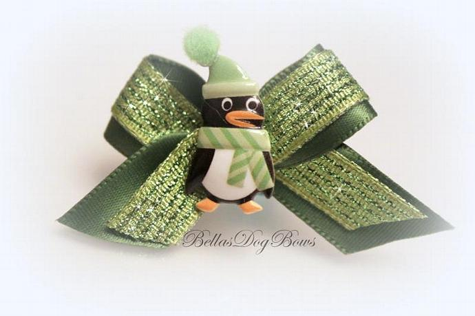 Chilly Willy Penguin Winter Casual Dog Bow