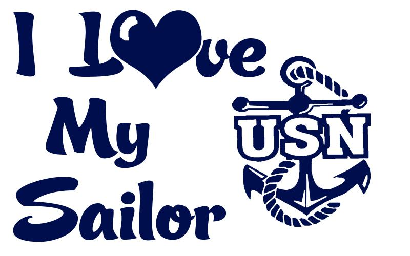 usn i love my sailor vinyl car decal us navy by