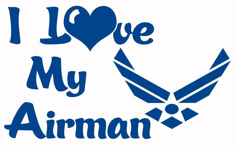 Usaf I Love My Airman Vinyl Car Decal Us Air By
