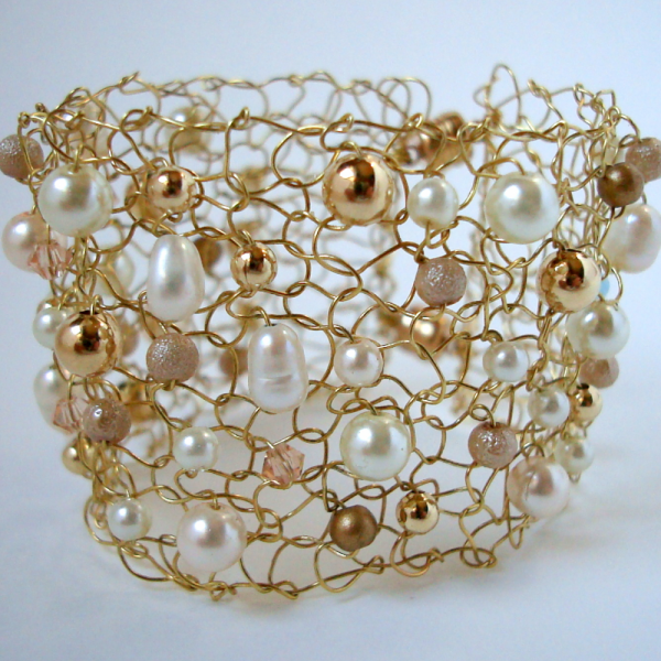 Something New Something Blue Gold Wire Cuff