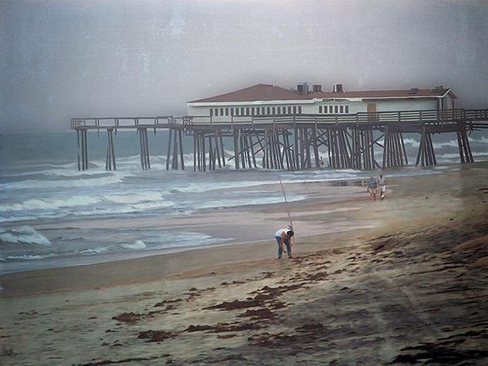 After the Hurricane- fine art print, photograph, Jennette's Pier, Nags Head, NC