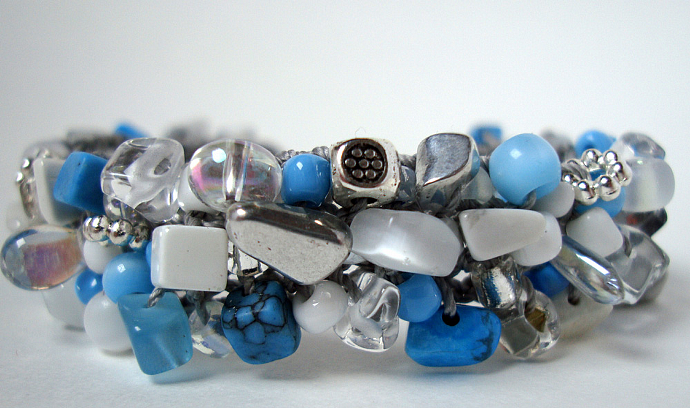 Thin Cool Waters Cuff Bracelet