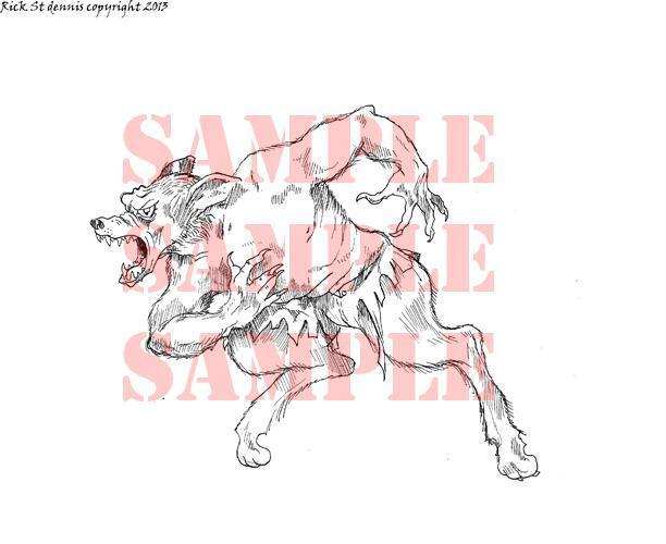 Werewolf digi stamp