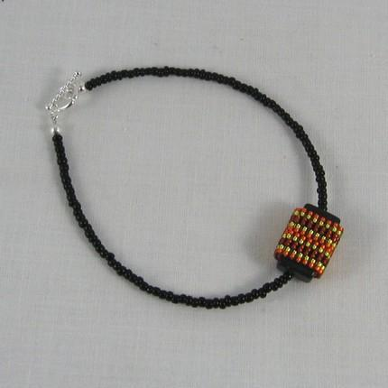 Blackstone beaded-beaded bracelet red yellow orange