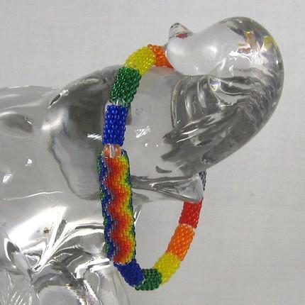 Rainbow beaded beads bracelet