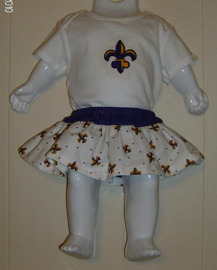 Purple and Gold Fleur de lis Diaper Cover/Bloomer with skirt/Matching