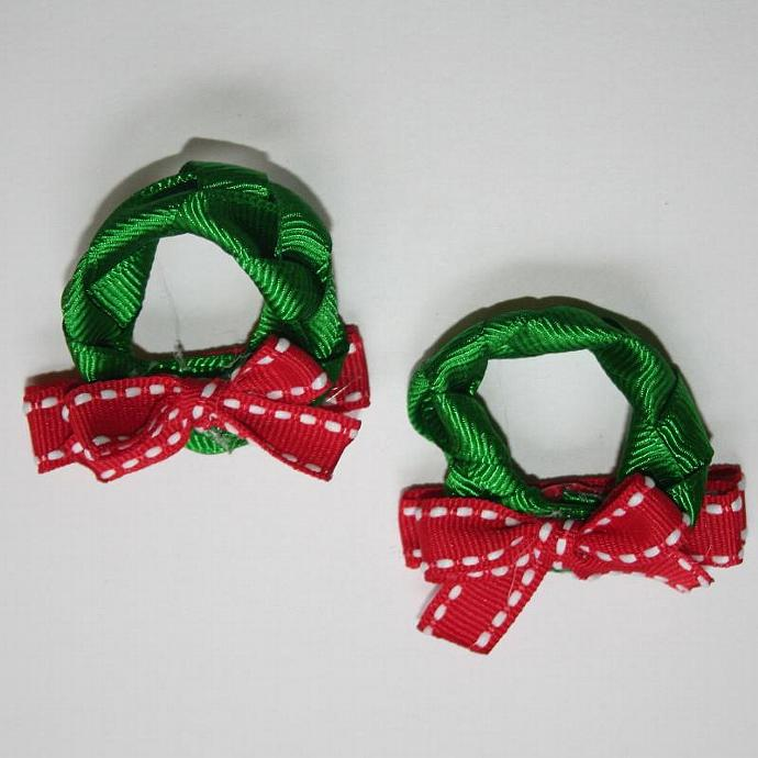 Christmas Wreath Hair Clip