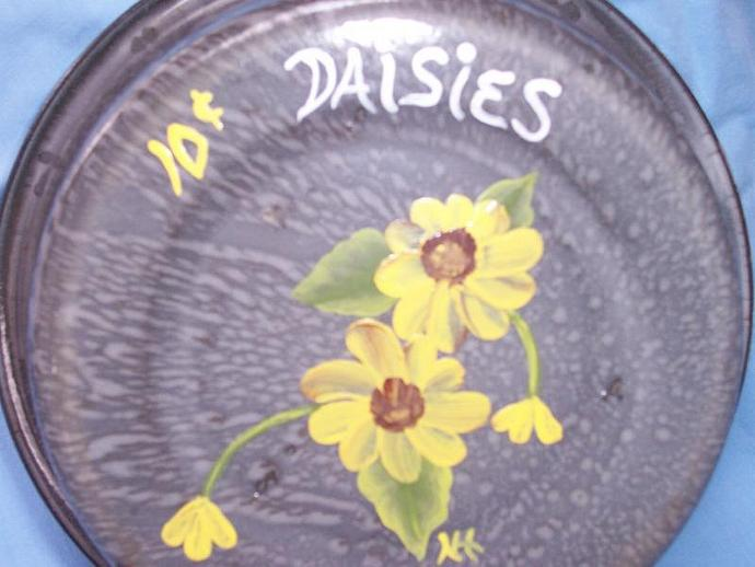 Yellow Daisy Vintage Enamel Pan