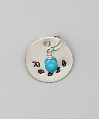 """Custom - 5/8"""" Personalized Sterling Silver Pendant w/ charm"""