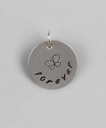 """CUSTOM- 3/4"""" Personalized Butterfly Pendant - Sterling Silver"""