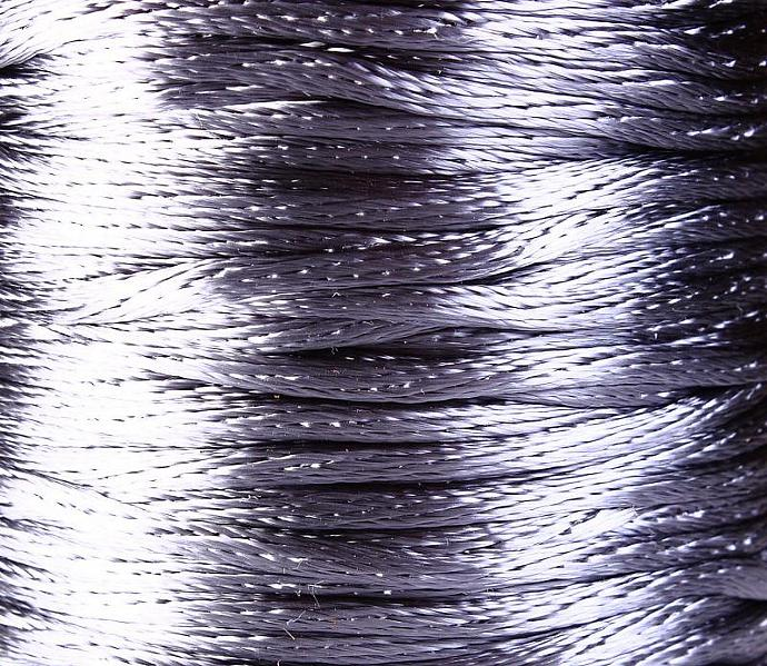 2mm Silver grey nylon thread cord - 10 feet (R020)