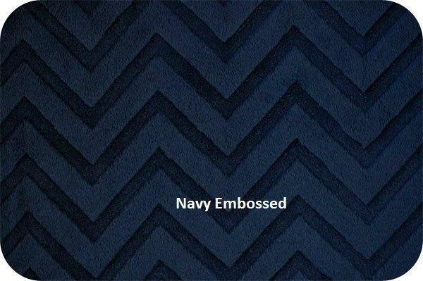 Blue Minky Chevron Blanket  Grey Navy Grey Minky Dot Back  Toddler or Lap