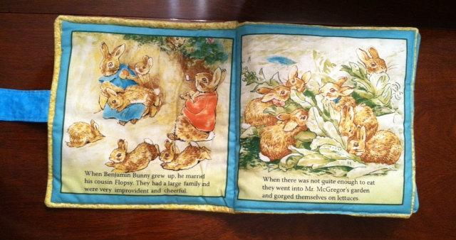 Childrens Cloth Book Soft Pillow Flopsy Bunnies Beatrice Potter   Toddler Book