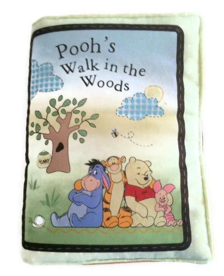 Childrens Cloth Book Soft Pillow Pooh Walk in the Woods  Kids