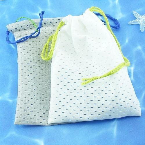 Soap Savers...poly nylon mesh Soap BAGS- set of TWO 2 Large eco bags