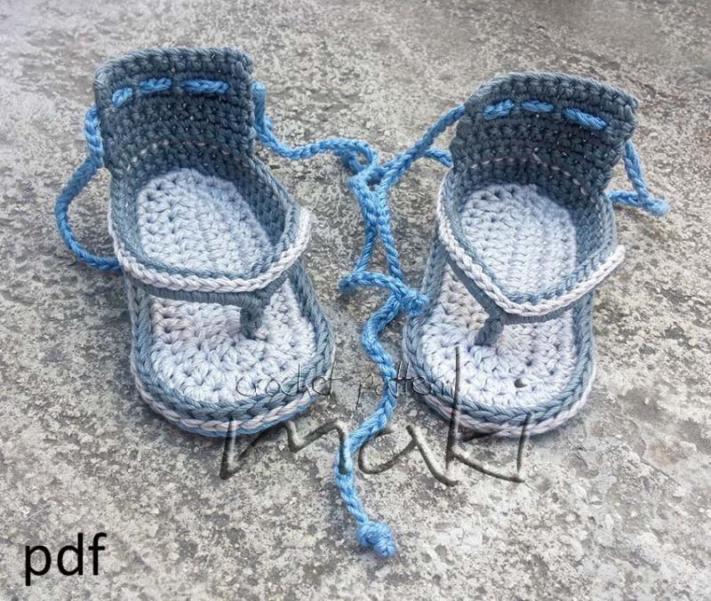 Crochet Pattern Baby Flip Flop Permission To By Makicrochet On Zibbet