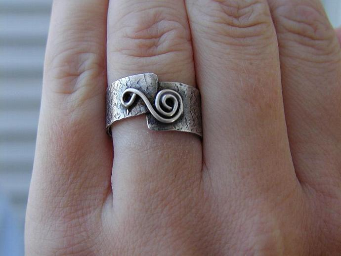Rustic  Sterling Silver Ring