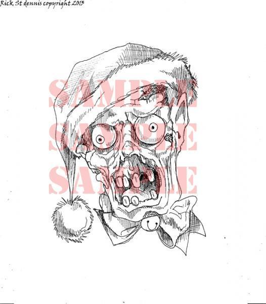 HO HO Zombie digi stamp