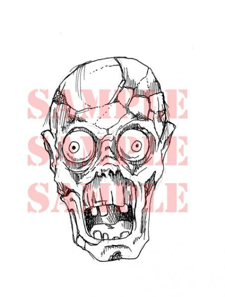 Zombie Face digi stamp