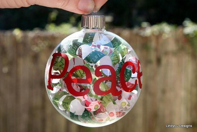 custom glass christmas ornaments with words by lindyludesigns on