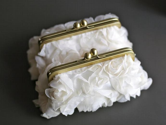 Fairy Tale Wedding Clutch in White