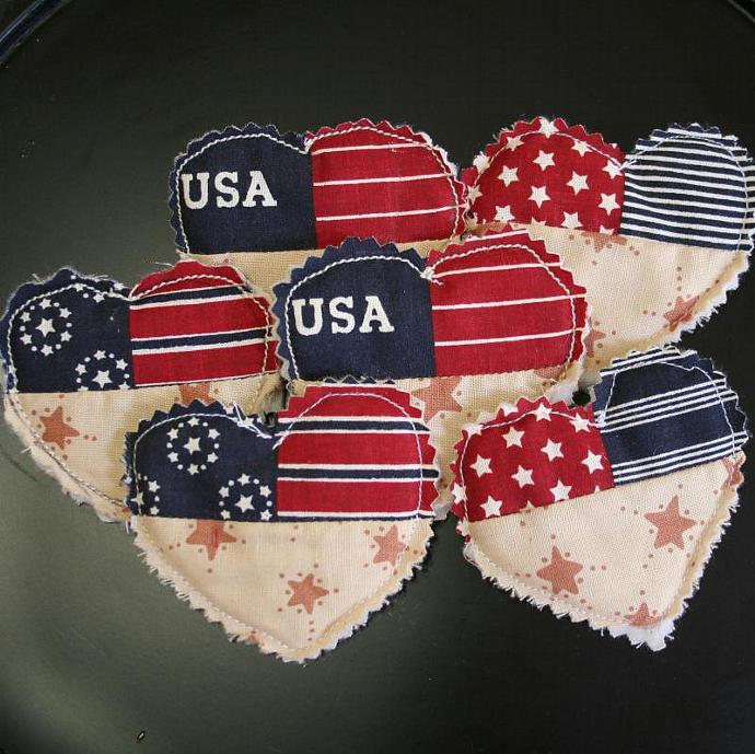 USA Heart Pins