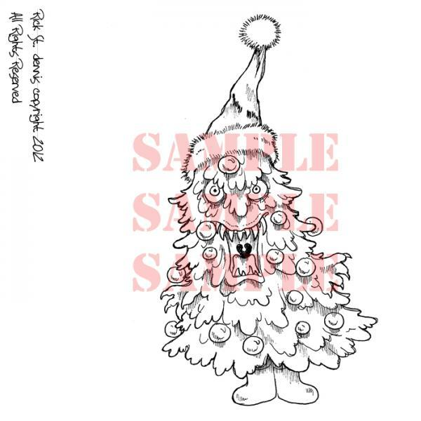 Creepmas Tree MOnSteR digi stamp