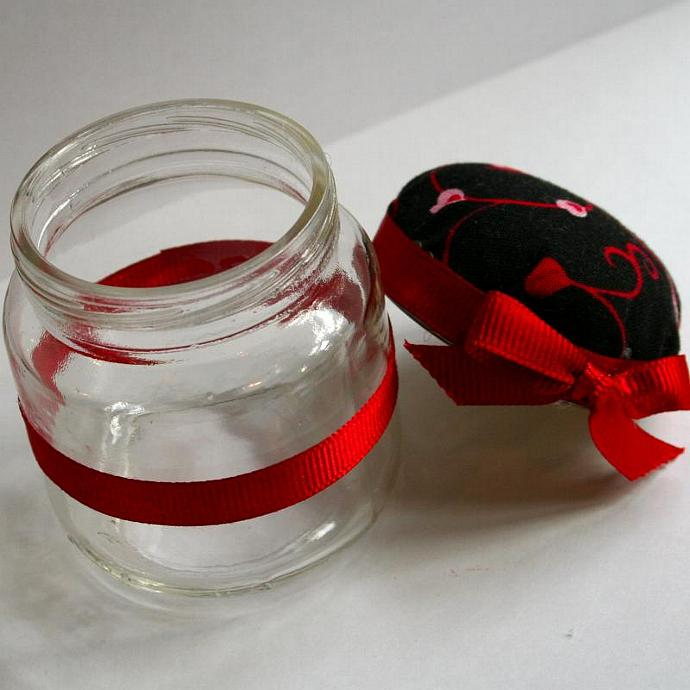 Swirly Hearts Jar