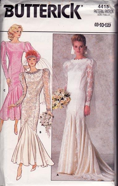 Butterick 4415 80s Wedding Dress by allthepreciousthings on Zibbet