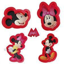 Disney Mickey and Minnie Mouse Cookie Cutter Set - 5 pieces