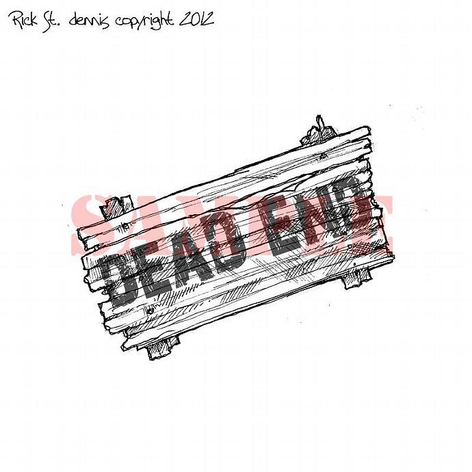 DEAD END sign digi stamp