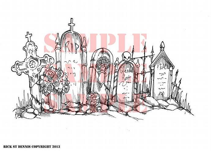 Graveyard Phantom Rest 2013 Scene Digi