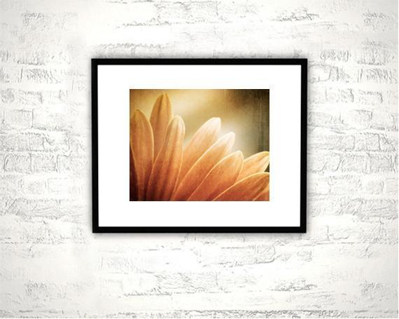 Flower Photography - 8x10 Rustic Orange Print - Brown Nature Floral Photograph