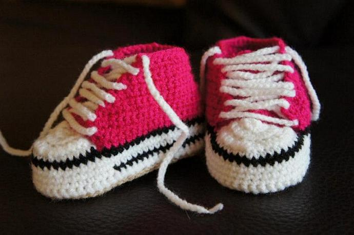 Cutest Baby Crochet Converse Shoes By Ivkinkutak On Zibbet