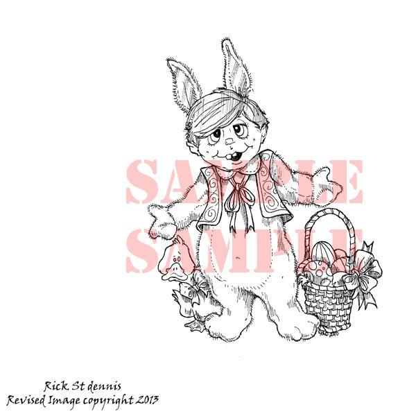 Easter Buddy digi stamp
